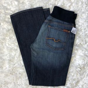NWT 7 for all Mankind maternity bootcut jeans 32